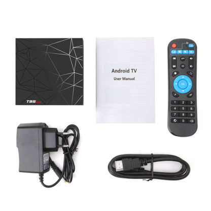 T95 MAX Smart tv BOX Android 9,0 6 K 4 ГБ ОЗУ 64 Гб ПЗУ Allwinner H6 четырехъядерный H.265 HD USD3.0 2,4G Wi-Fi YouTube T95MAX телеприставка 4
