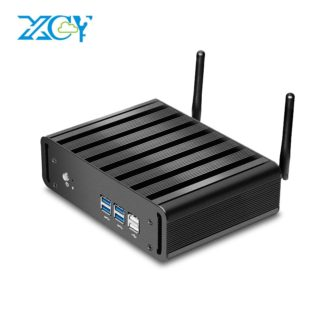 XCY мини-ПК Intel Core i3 4010U 5005U i5 4200U 5200U i7 5500U офисный компьютер HTPC Windows 10 Linux HDMI WiFi Gigabit Ethernet
