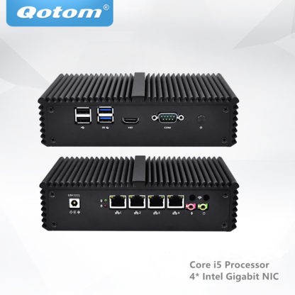 Qotom Core i5 Mini PC Pfsense роутер брандмауэр 4 LAN мини пк 1