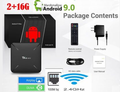Tanix TX6 ТВ коробка android 9,0 Allwinner H6 4 Гб DDR3 32 ГБ/64 Гб памяти на носителе EMMC 2,4 ГГц Wi-Fi 5 ГГц BT4.1 Поддержка 4 K H.265 Bluetooth 4,0 tx6 мини 4