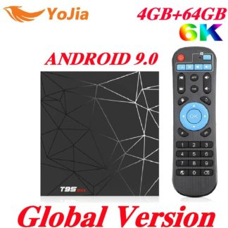 4 ГБ ОЗУ 64 Гб ПЗУ 6 K Smart tv BOX Android 9,0 T95 MAX Allwinner H6 четырехъядерный 2,4G Wi-Fi YouTube 16G/32G T95MAX PK TX6 телеприставка