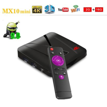 Android 9,0 smart Tv Box MX10mini 2G16G RK3328 Quad-Core 64bit Cortex-A53 4 k 2,4 ГГц Wi-Fi беспроводная мышь youtube плеер x96 1