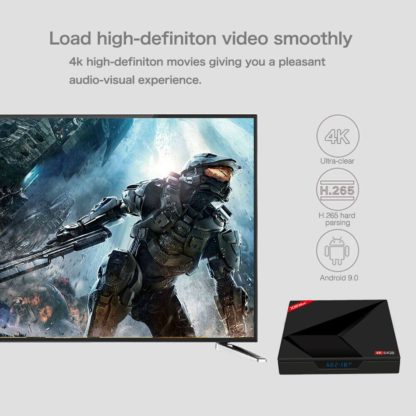 Smart ТВ box Android 9,0 4 GB 64 GB 2,4 г/5G Wi-Fi RK3328 пента-Core BT V4.0 4 K HD добавить Тип-c USB X88 Max Youtube проигрыватель Google коробка 4