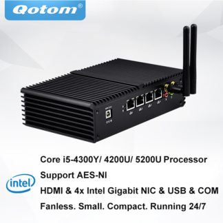 Qotom Core i5 Mini PC Pfsense роутер брандмауэр 4 LAN мини пк