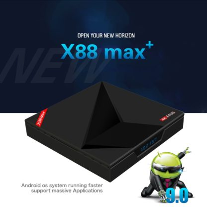 Wechip X88 Max плюс ТВ box Android 9,0 4 GB 64 GB RK3328 пента-Core 2,4G/5G dual Wifi BT V4.0 4 K HD добавить Тип-c медиаплеер USB 1