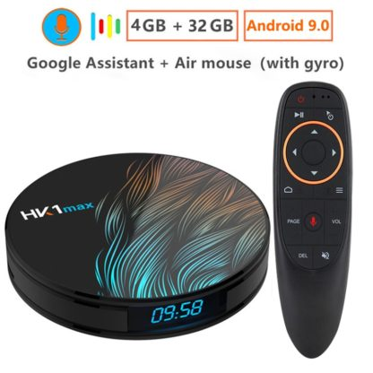 Android 9,0 Smart tv BOX Google Voice Assistant RK3328 4G 64G ТВ приемник 4 K Wifi Google Play быстрый набор топ-бокс Youtube netflix