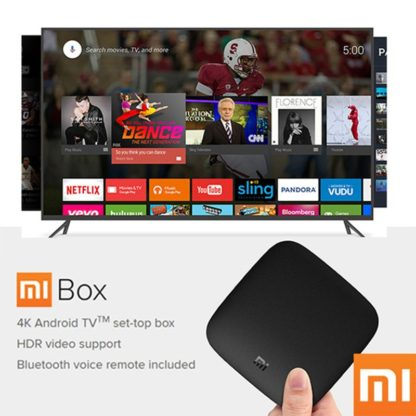 Оригинальный Xiaomi Mi ТВ-бокс 3 Smart 4K Ultra HD 2G 8G Android 8,0 Movie WiFi Google Cast Netflix Red Bull медиаплеер приставка 4